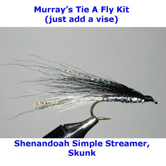 Shenandoah Simple Streamer, Skunk Fly Tying Kit