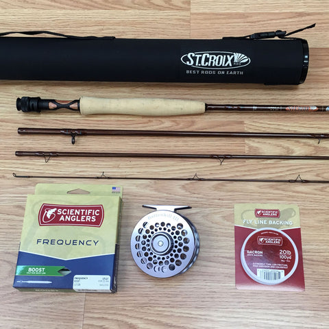 St Croix Imperial 906 Rod with Battenkill Disc Reel Line and Backing