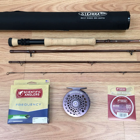 St Croix Imperial 907 Bass Rod with Battenkill Disc Reel, line and backing