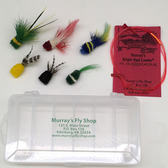 Summer Deer Hair Bass Bug Special with Free Leader