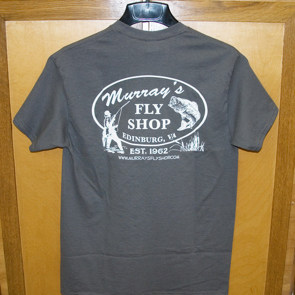 MFS T-Shirt Charcoal with White Fly Caster Back