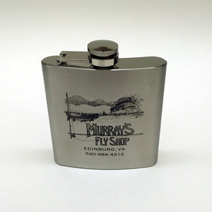 Murray's Fly Shop Hip Flask - Stainless