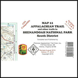 Appalachian Trail Maps - Trail Map 11 - Shenandoah National Park - Murray's Fly Shop