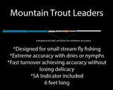 Mountain trout leaders, trout fly fishing leaders, small stream leader, trout fishing leaders