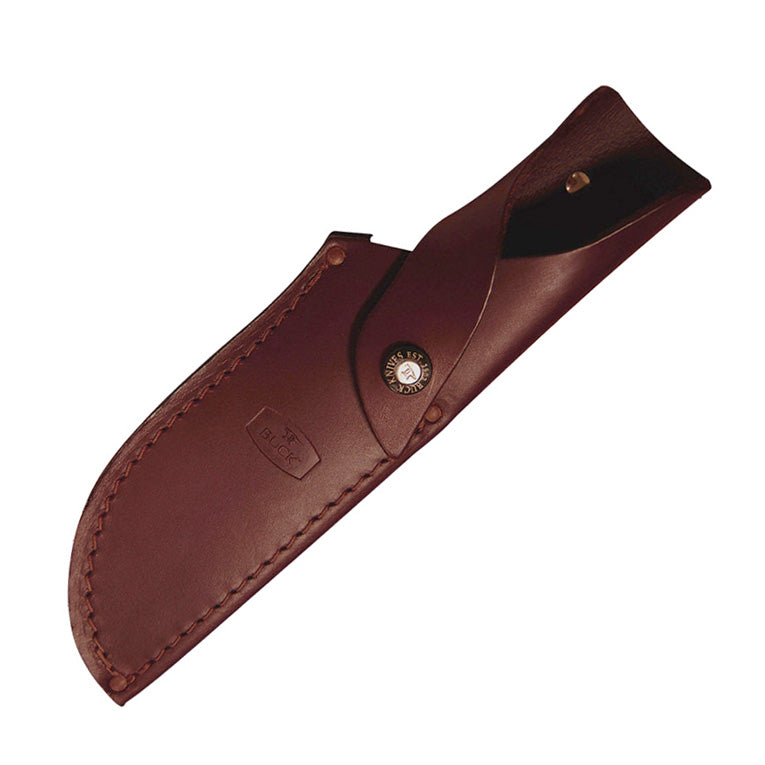 "Buck 401 Kalinga 4.75"" 420HC Fixed Blade Knife with Dymalux Red Wood Handle"