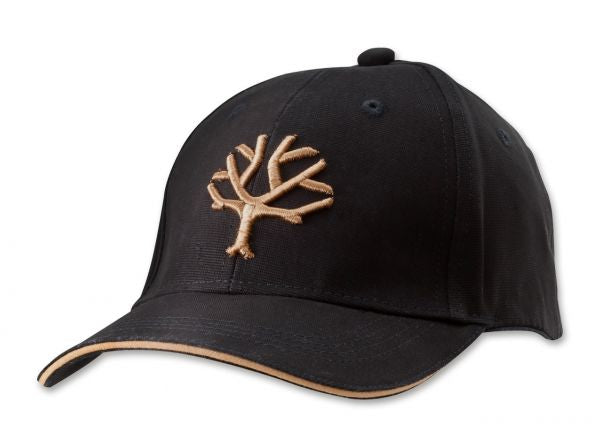 Boker Cap - Black with Desert Tan Embroided Tree Logo and Velcro Strap