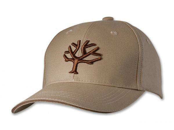 Boker Cap - Desert Tan with Brown Embroided Tree Logo and Velcro Strap