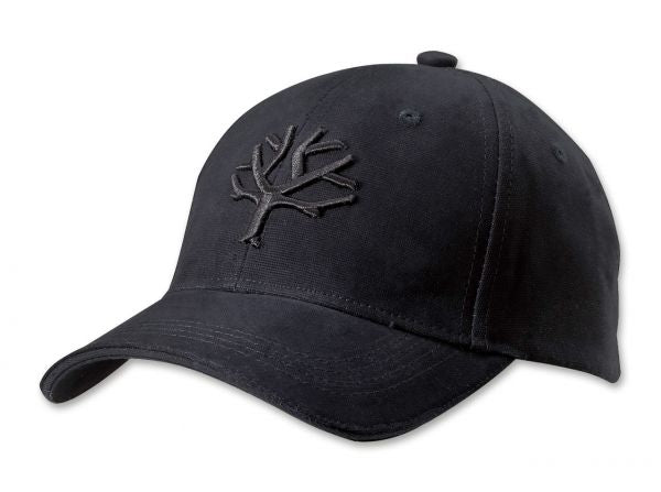Boker Cap - Blackout with Embroided Tree Logo and Velcro Strap