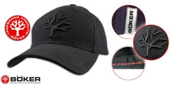 Boker Cap - Blackout with Embroided Tree Logo
