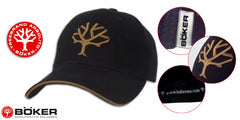 Boker Cap - Black with Desert Embroided Tree Logo