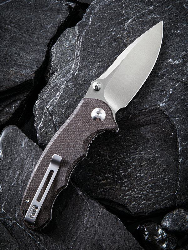 "Civivi (by WE Knife) Hooligan 2.98"" D2 Dark Hazel Micarta Folding Knife C913B"