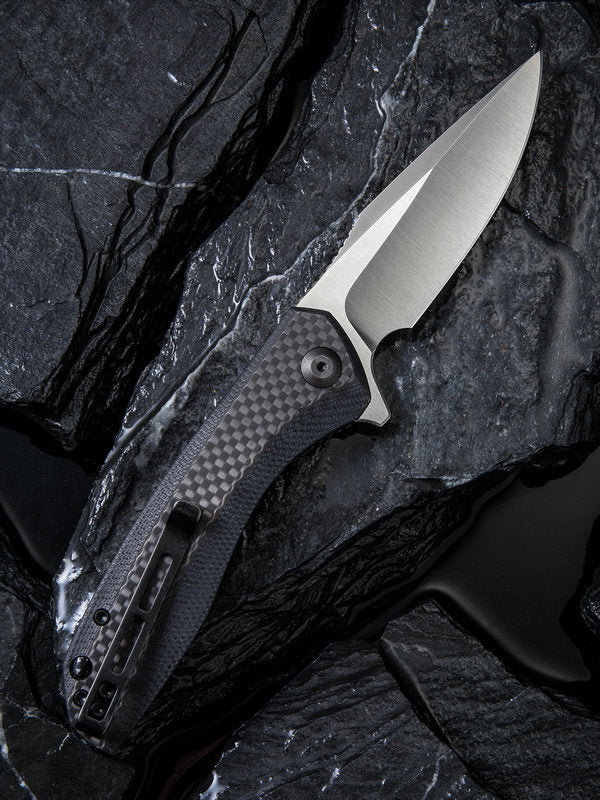 "Civivi Baklash 3.5"" 9Cr18MoV G10 Carbon Fiber Folding Knife C801D"
