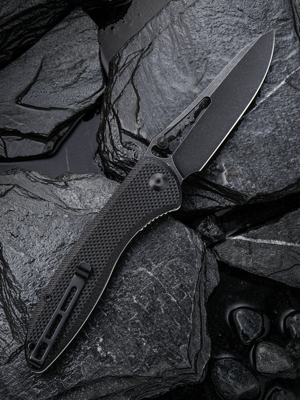 "Civivi (by WE Knife) Picaro 3.94"" D2 Black Stonewash G10 Folding Knife C916D"
