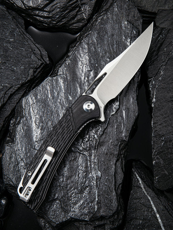 "Civivi Dogma 3.46"" D2 Black G10 Folding Knife C2005D"
