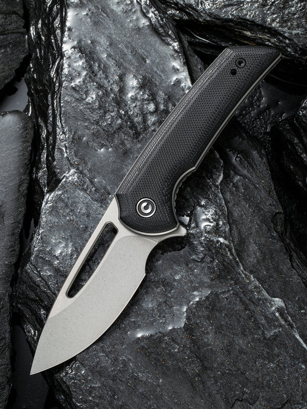 "Civivi Ferrum Forge Odium 2.65"" D2 Stonewashed Black G10 Folding Knife C2010D"