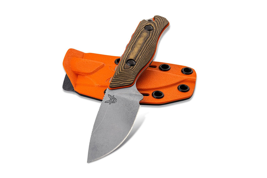 "Benchmade 15017-1 Hidden Canyon Hunter 2.79"" CPM-S90V Fixed Blade Knife with Boltaron Sheath"