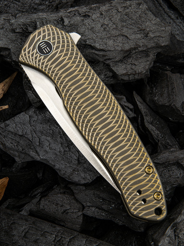 "WE Knife Kitefin 3.24"" CPM S35VN Bronze Titanium Folding Knife 2001C"