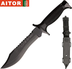 "Aitor Oso Negro 7.25"" Fixed Blade Knife with Molded Sheath 16010"
