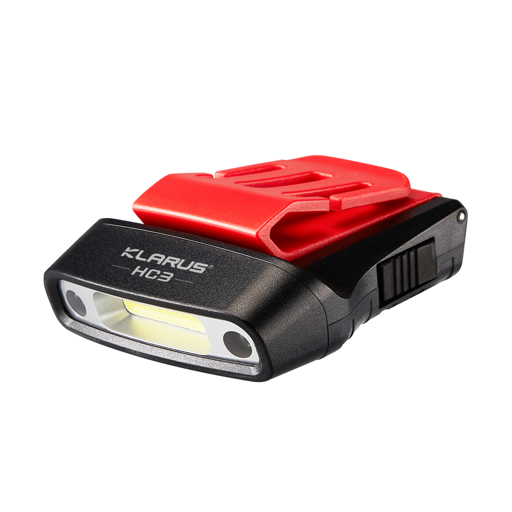Klarus HC3 100LM Motion Sensing Hat/Headlamp Rechargeable Flashlight - Red/Black
