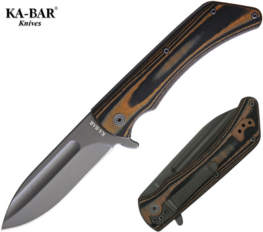 "KA-BAR Mark 98 3.5"" G10 Flipper Folding Knife 3066"