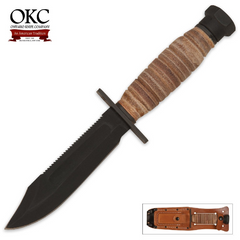Ontario Knife Company Air Force Survival Knife with Leather Sheath 499