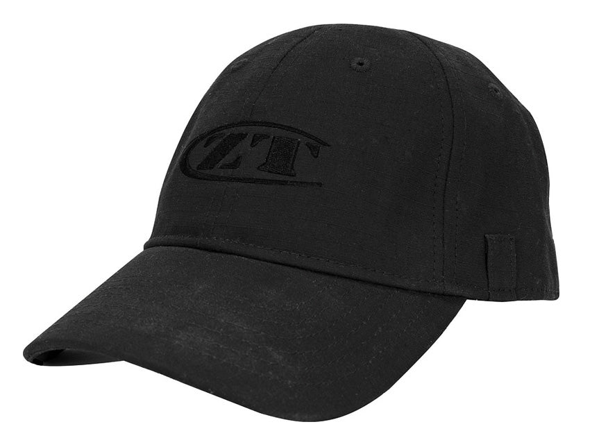 Zero Tolerance Tactical Blackout Cap with Utility Loops and Velcro Closure