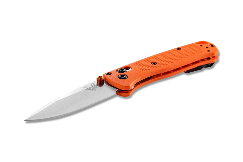 "Benchmade 533 Mini Bugout 2.82"" CPM-S30V Folding Knife with Orange Grivory Handle"