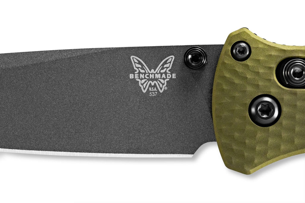"Benchmade 537GY-1 Bailout AXIS 3.38"" CPM-M4 Tanto Folding Knife with Green Aluminum Handle"