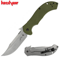 "Kershaw Emerson CQC-10K 3.5"" Stonewash Green G10 Folding Knife"