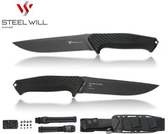 "Steel Will Darkangel 900 5.8"" N690Co Fixed Blade Knife with Kydex Sheath - Made in Italy"