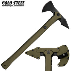 "Cold Steel Trench Hawk 19"" Tomahawk Axe with Secure-Ex Sheath OD Green 90PTHG"