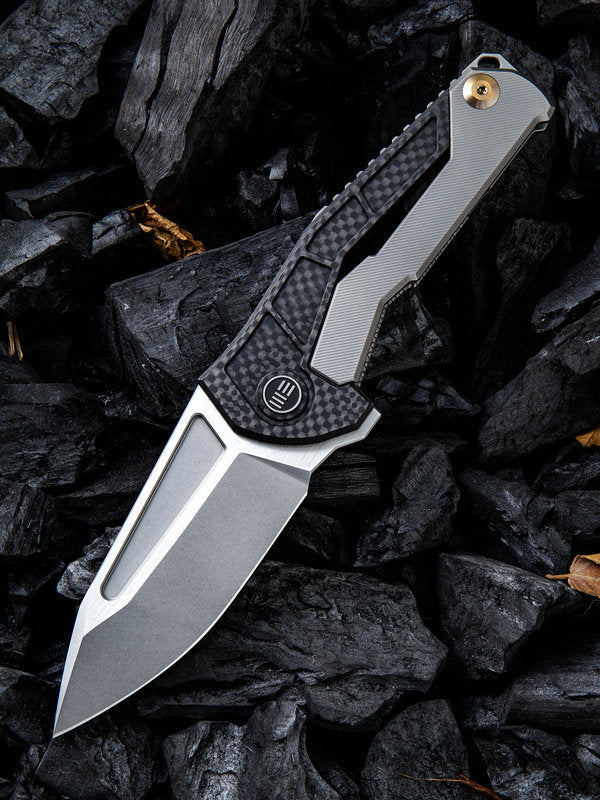 "WE Knife Limited Edition Mikkel Willumsen Sugga 3.55"" S35VN Titanium Carbon Fiber Folding Knife 915A"