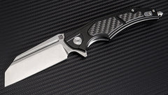 "Artisan Cutlery Apache 3.70"" D2 Carbon Fiber Black Folding Knife"