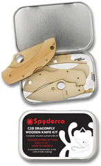 Spyderco C28 Dragonfly Wooden Folding Knife Kit WDKIT1