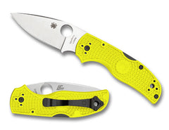 "Spyderco Native 5 Salt 2.95"" Rustproof LC200N Yellow FRN Folding Knife C41PYL5"