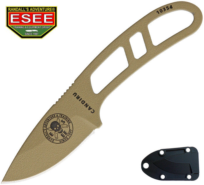ESEE Candiru Dark Earth EDC Survival Knife with Molded Sheath CAN-DE