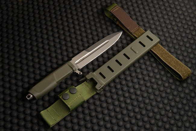 "Extrema Ratio Contact Ranger Green 6.37"" N690 Fixed Blade Knife with MOLLE Sheath"