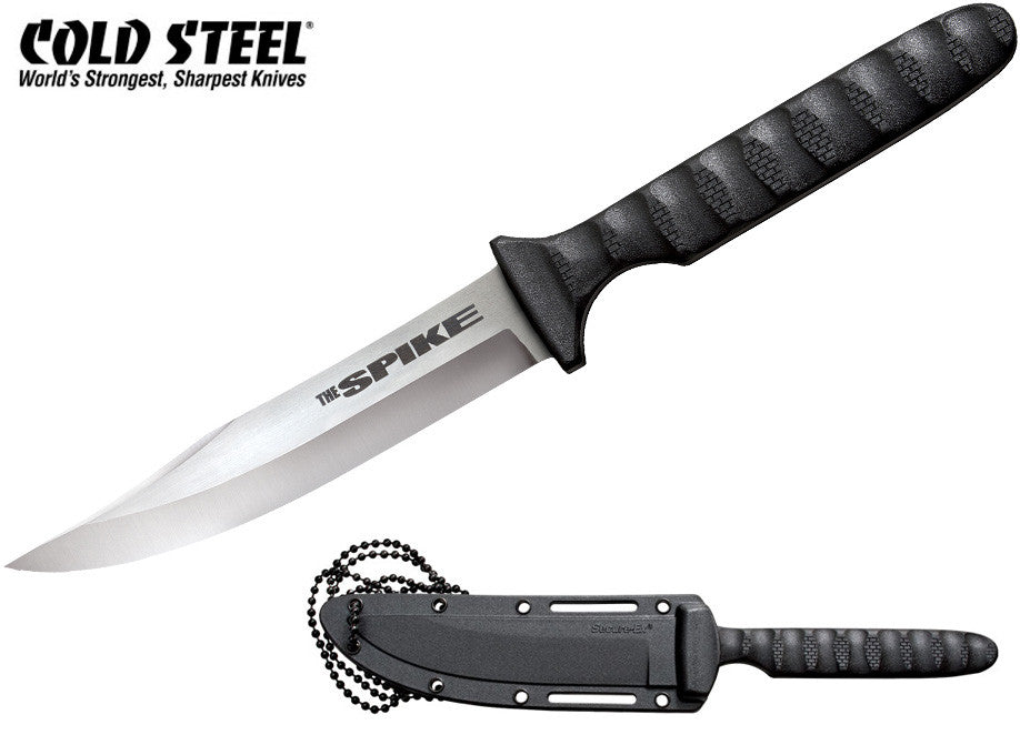"Cold Steel Bowie Spike 4"" Tactical Neck Knife with Secure-Ex Sheath 53NBS"