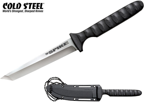 "Cold Steel Tanto Spike 4"" Tactical Neck Knife with Secure-Ex Sheath  53NCT"