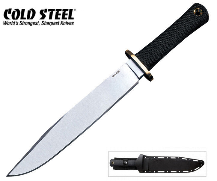 "Cold Steel Trail Master 9.5"" O-1 Steel Bowie Fixed Blade Knife 39L16CT"