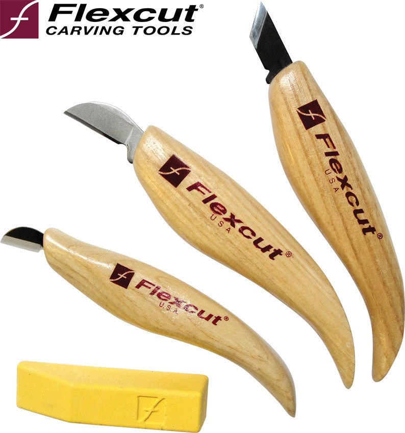 Flexcut KN115 Chip Carving Knife Set - Made in USA