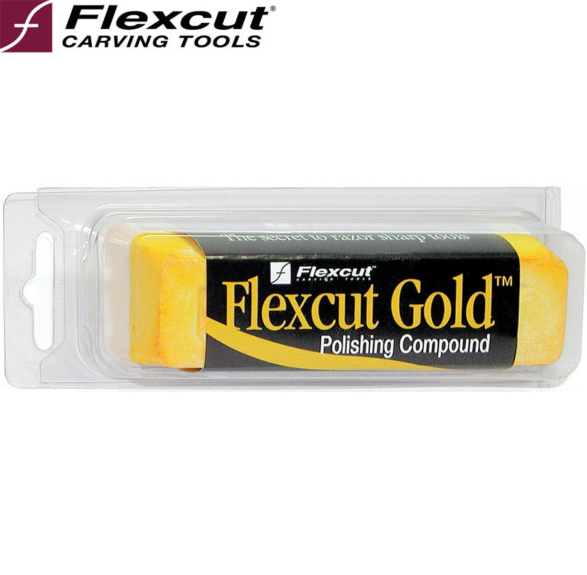Flexcut PW11 Gold Polishing Compound for Stropping - Made in USA