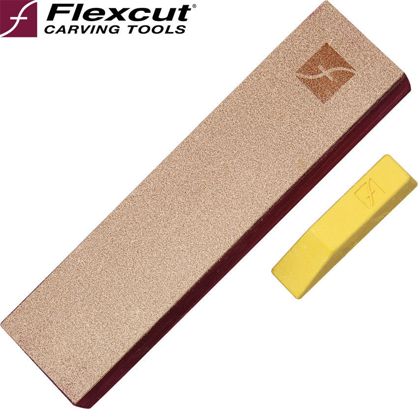 Flexcut PW14 Leather Knife Strop with Polishing Compound - Made in USA