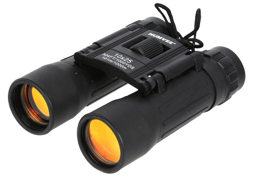 Humvee 10x25 Compact Binoculars with Case