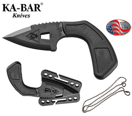 "KA-BAR TDI Shark Bite 2.6"" Ultramid Polymer Fixed Blade Neck Knife 9908"