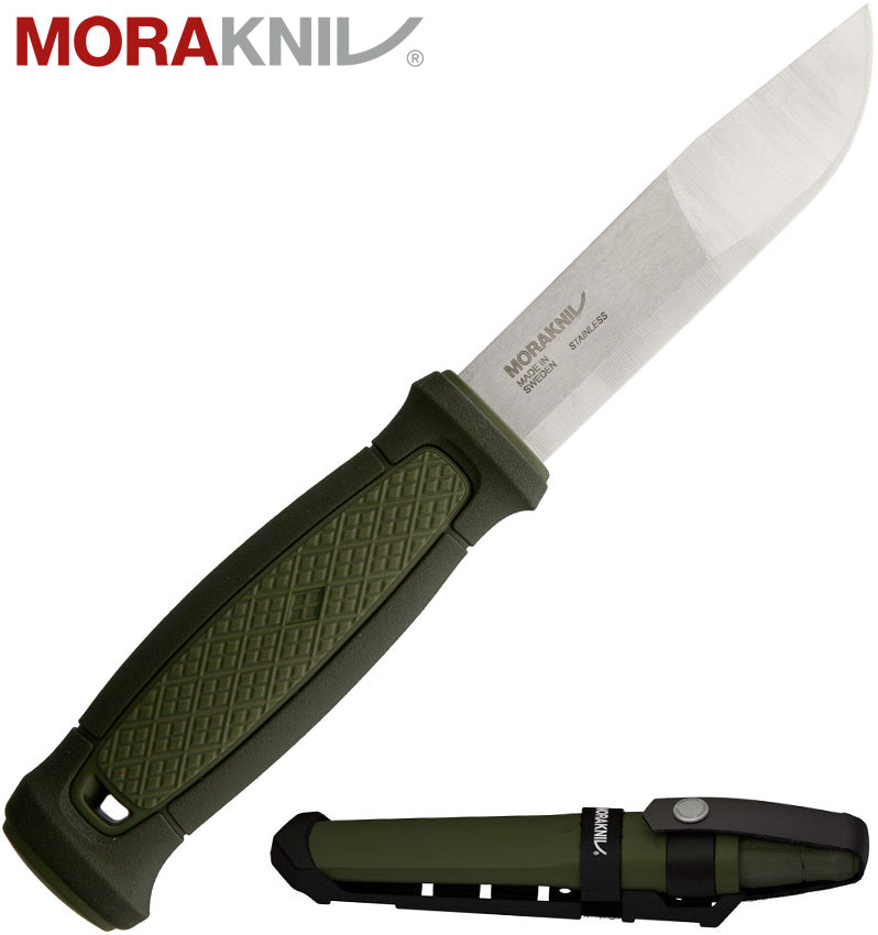 "Morakniv Kansbol 4.3"" Sandvik 12C27 Fixed Blade Knife with Multi-Mount MOLLE Sheath 12645"