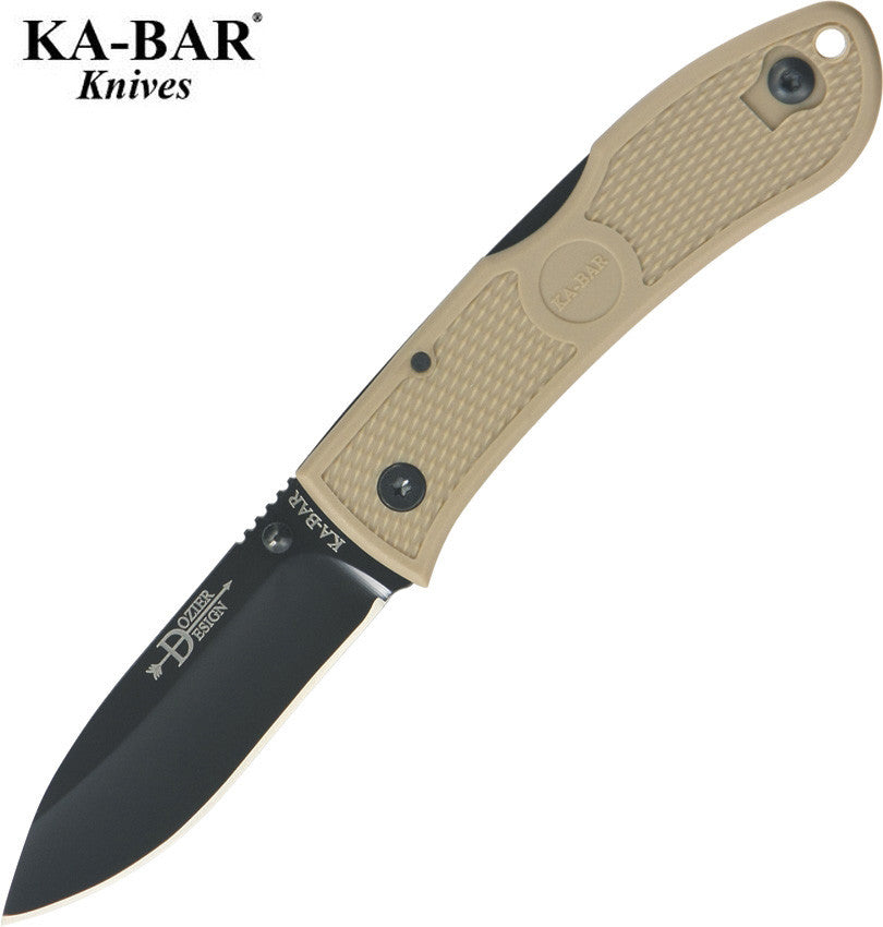"KA-BAR Dozier 3"" AUS8A Folding Hunter Knife Coyote Brown 01-4062 CB"