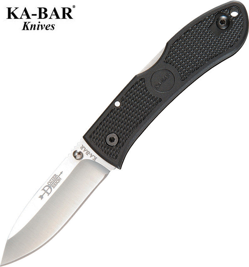 "KA-BAR Dozier 3"" AUS8A Folding Hunter Knife Black 02-4062"