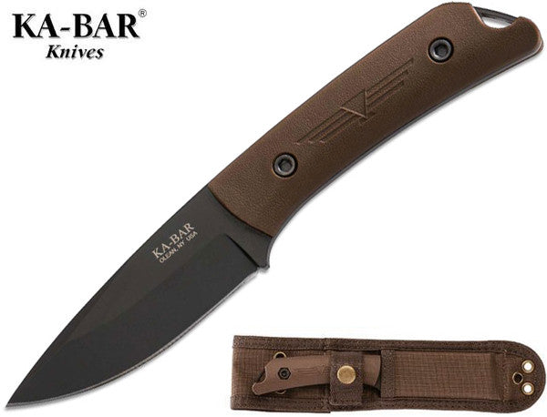 "KA-BAR Jarosz Globetrotter 3.5"" Fixed Blade Knife with MOLLE Sheath 7502"