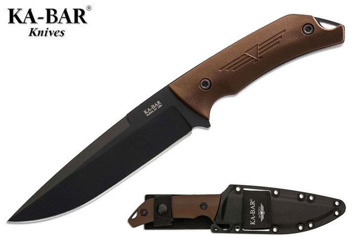 "KA-BAR Jarosz Turok 6.25"" Fixed Blade Knife with Celcon Sheath 7503"
